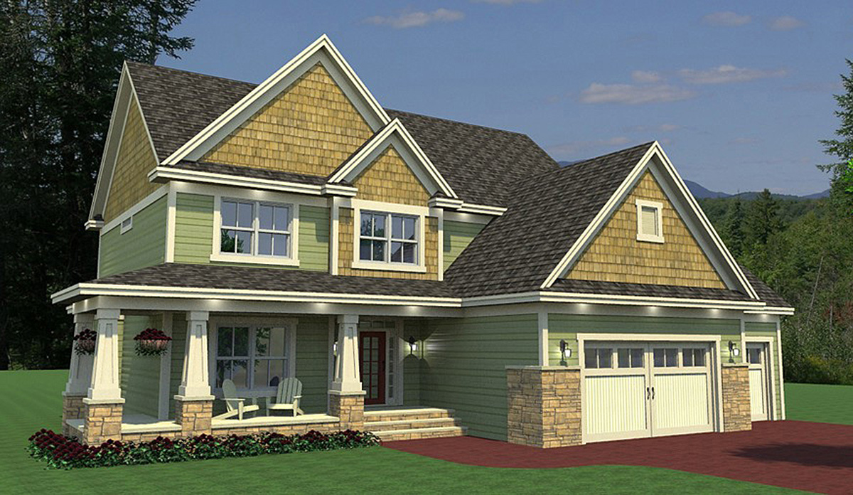Craftsman House Plan With Sunroom