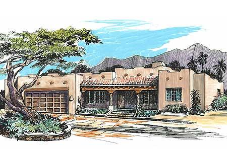 Pueblo Style Home Plan - 16330MD | Architectural Designs ...