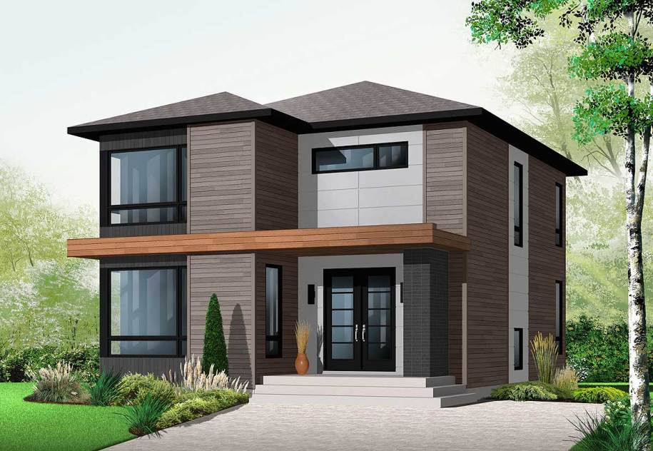 Stately Modern - 21998DR | Architectural Designs - House Plans