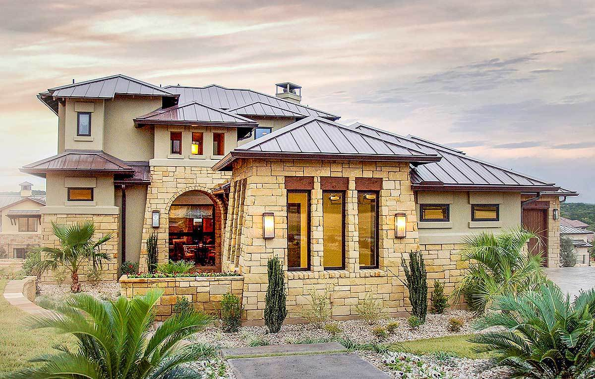 Stunning Tuscan House Plan 28332HJ Architectural