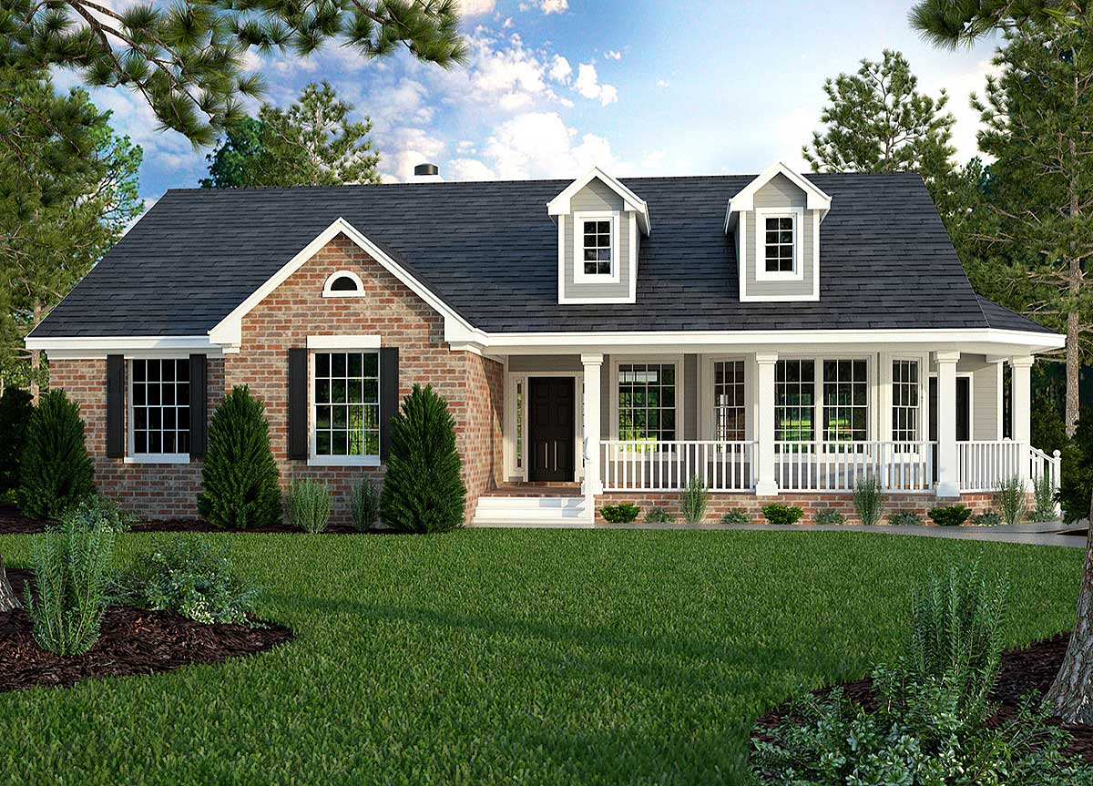 Great Little Ranch House Plan - 31093D | Architectural ... on Back Deck Ideas For Ranch Style Homes  id=61108