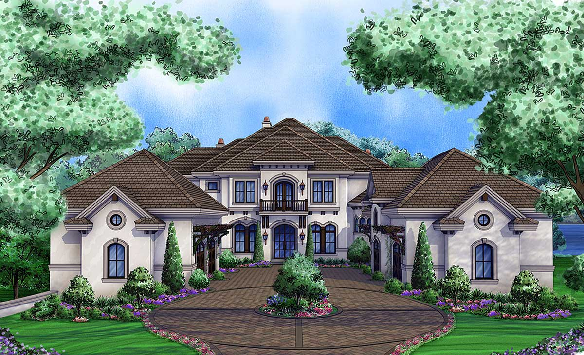 Luxury Tuscan Home with 3 Living Levels 66376WE