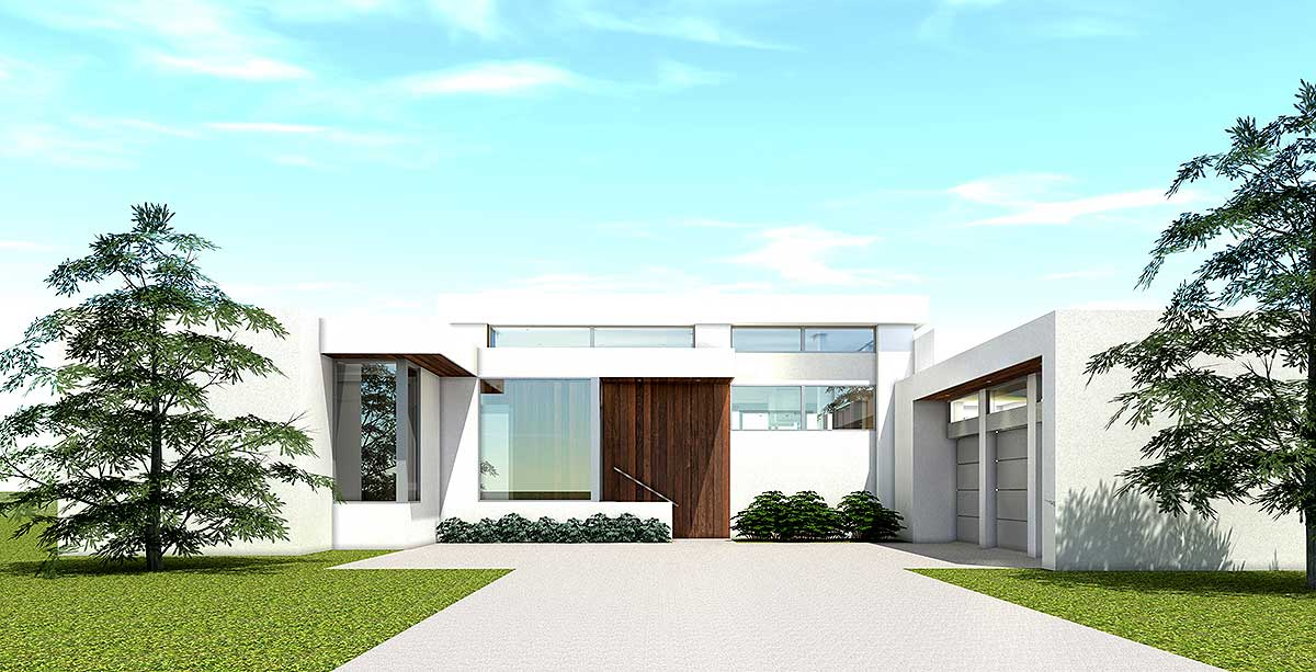 Ultra Modern House Plan With 4 Bedroom Suites