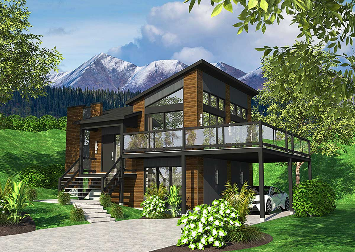 Exciting Contemporary House Plan - 90277PD