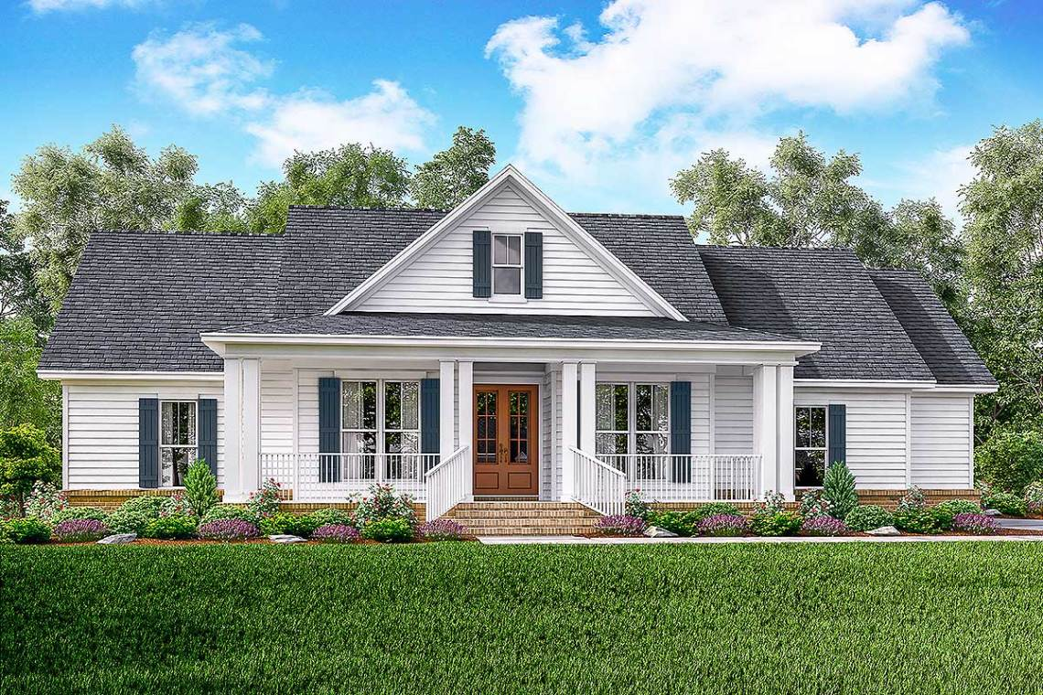 Classic 3 Bed Country Farmhouse Plan - 51761HZ ...