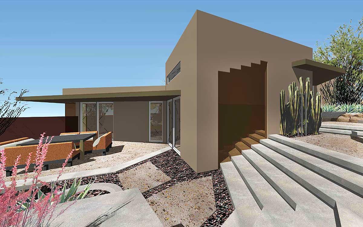 Exclusive Unique Modern House Plan - 450001ESP ... on Modern House Ideas  id=44274