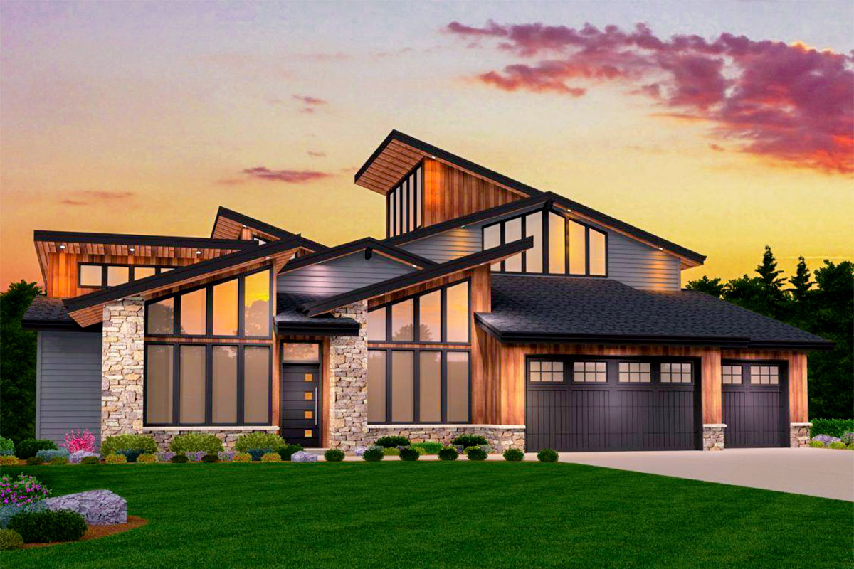 Smash Hit Modern House Plan with Two Master Suites ... on Modern House Ideas  id=67199