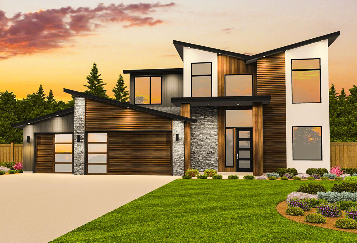 Contemporary House Plan with Casita - 85182MS ... on Modern House Ideas  id=45729