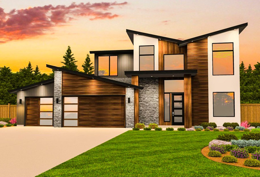 Contemporary House Plan with Casita - 85182MS ...