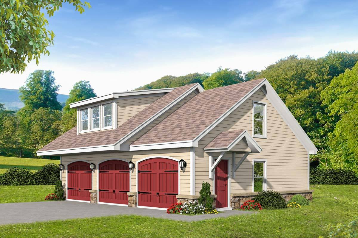 3-Car Detached Garage With Upstairs Loft