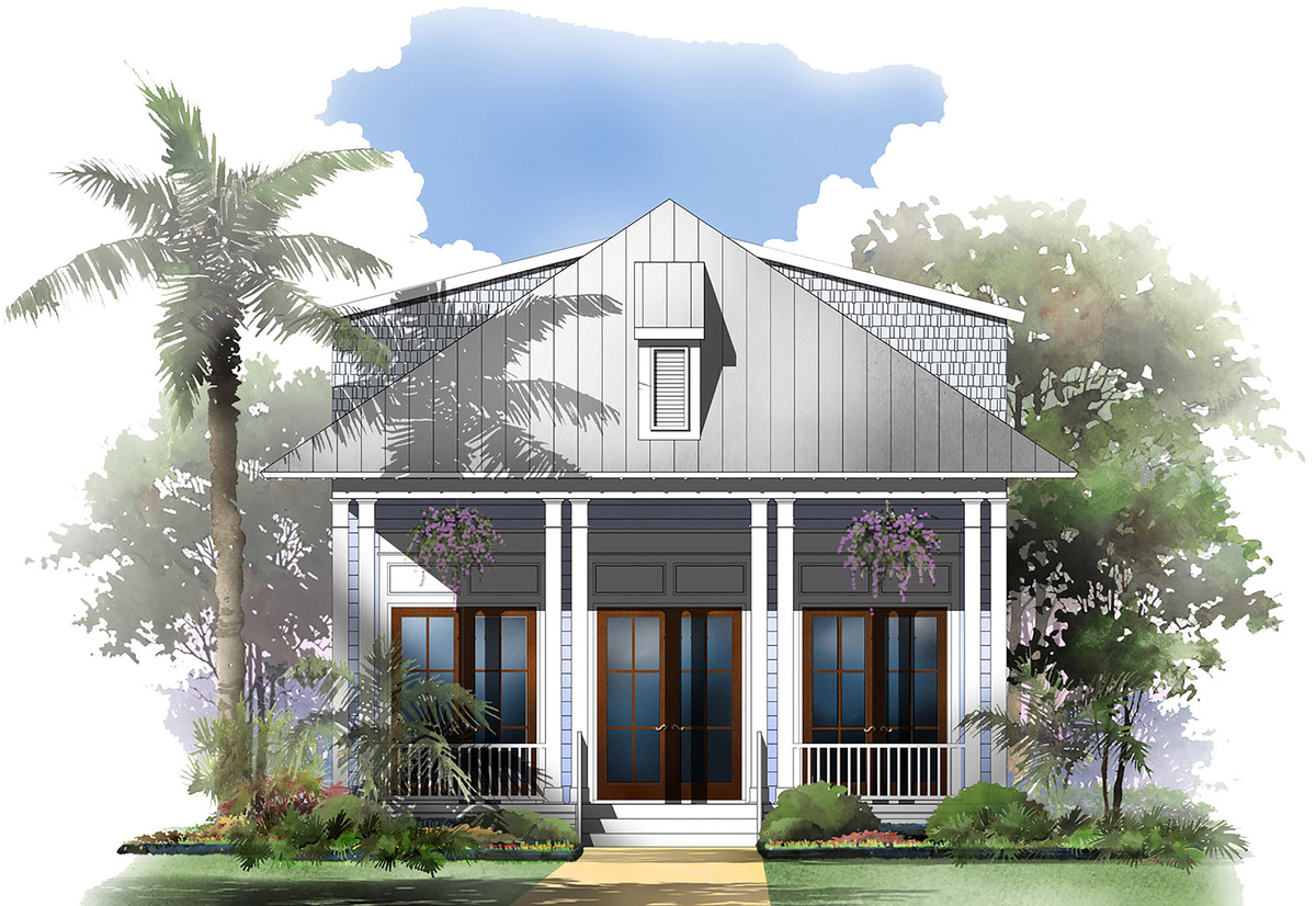 3 Bed Raised Cottage House Plan 51720HZ Architectural