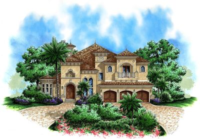 Beautiful Tuscan Appeal 66180WE Architectural Designs