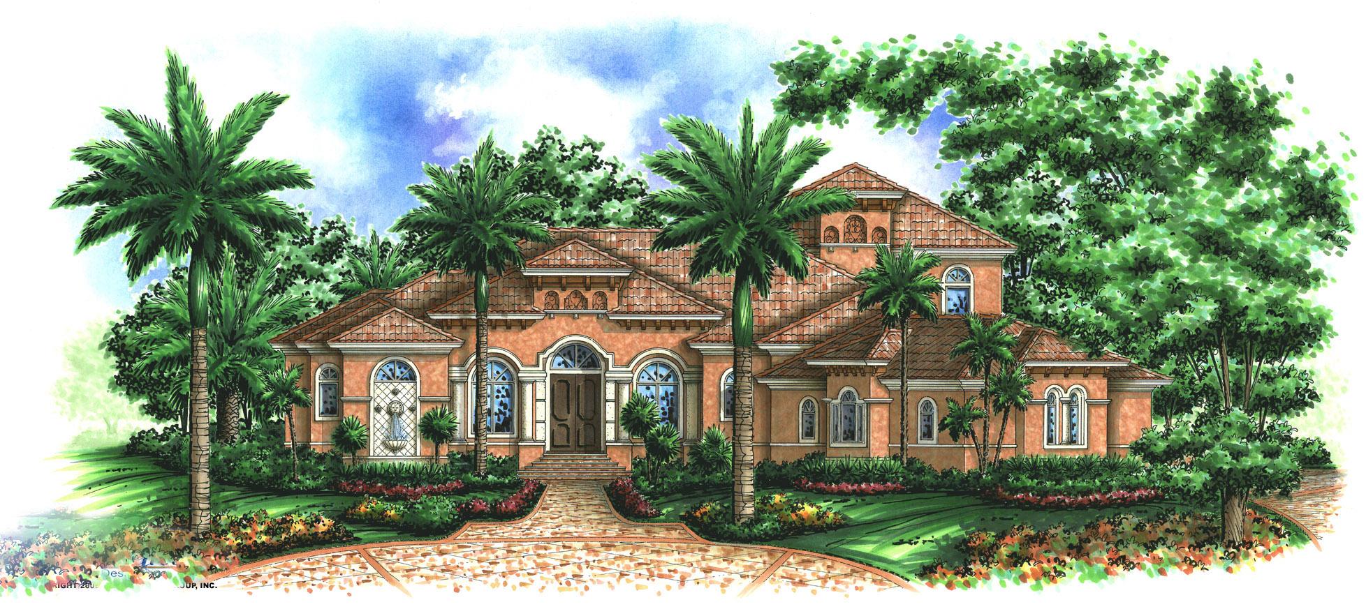 Beautifully Designed Tuscan House Plan 66185WE