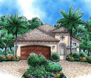 Narrow Lot Tuscan 66195GW Architectural Designs