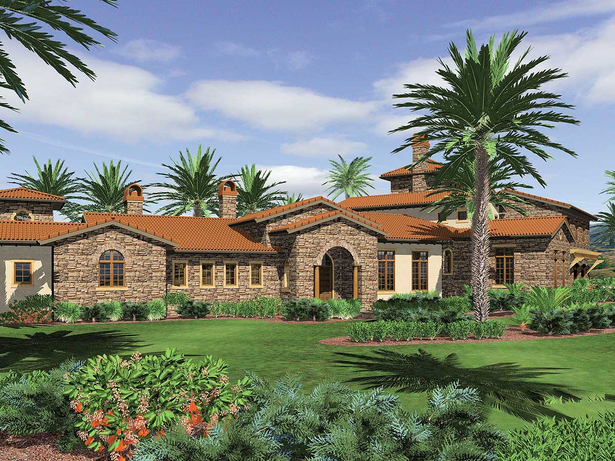 Spanish Style Guest House Plans