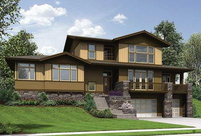 Craftsman for Uphill Sloping Lot - 69520AM | Architectural ... on Uphill Backyard Ideas  id=78390