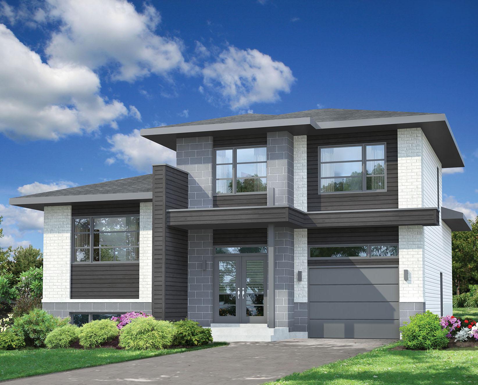 Split-Level Contemporary House Plan