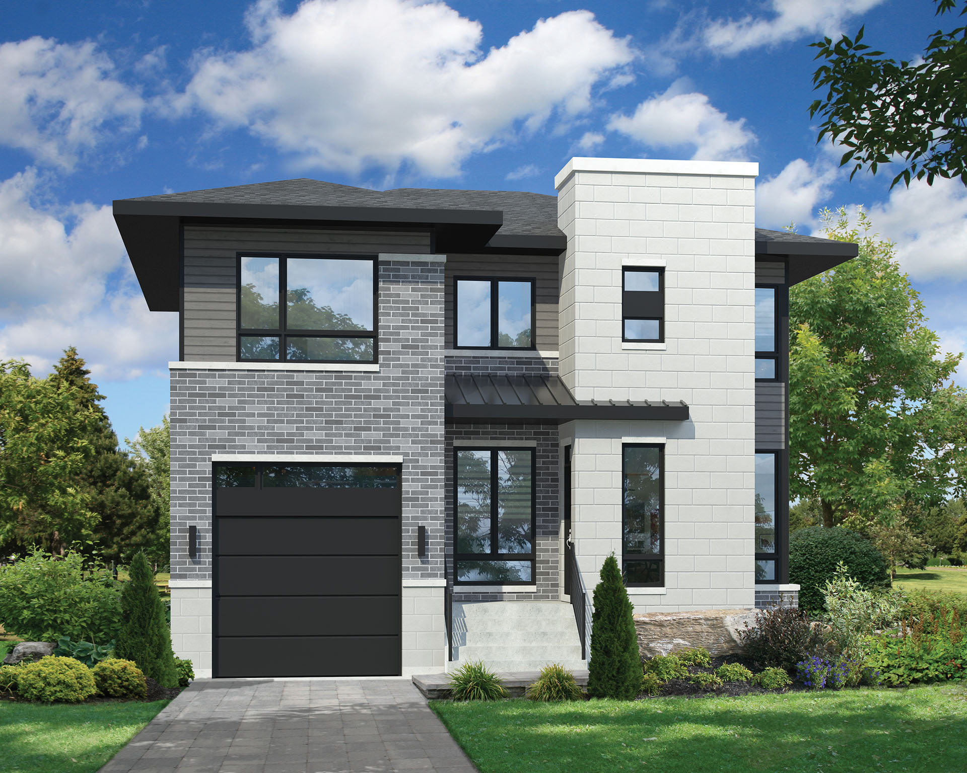 Two-Story Contemporary House Plan - 80806PM