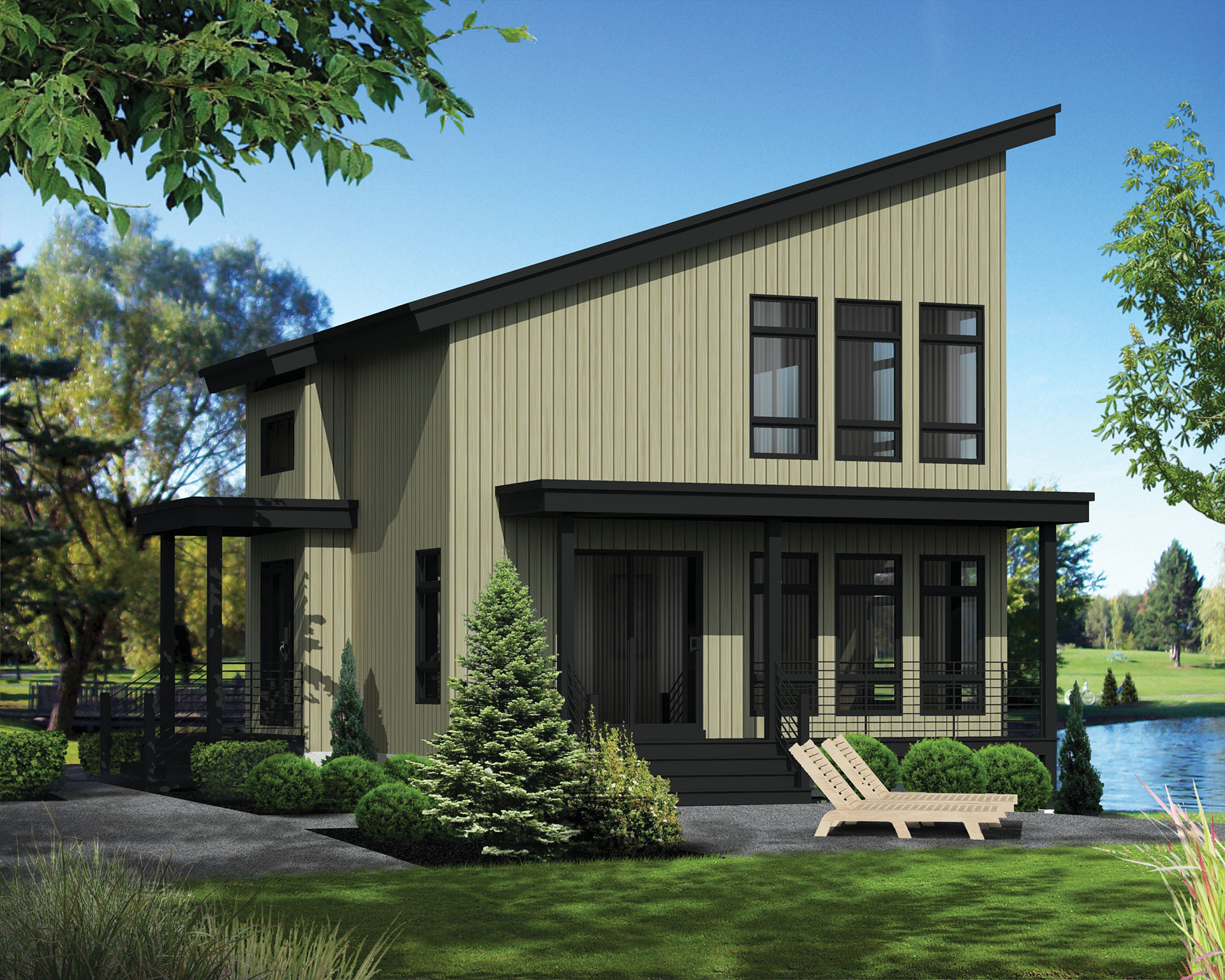 Compact Vacation House Plan - 80818PM