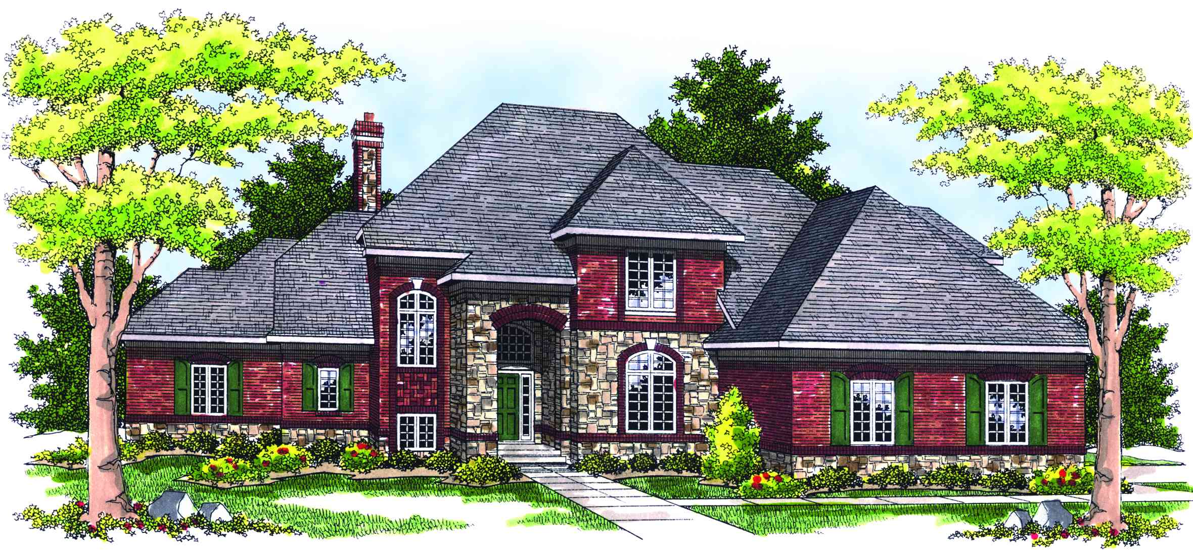 Two-story French/Country Home Plan