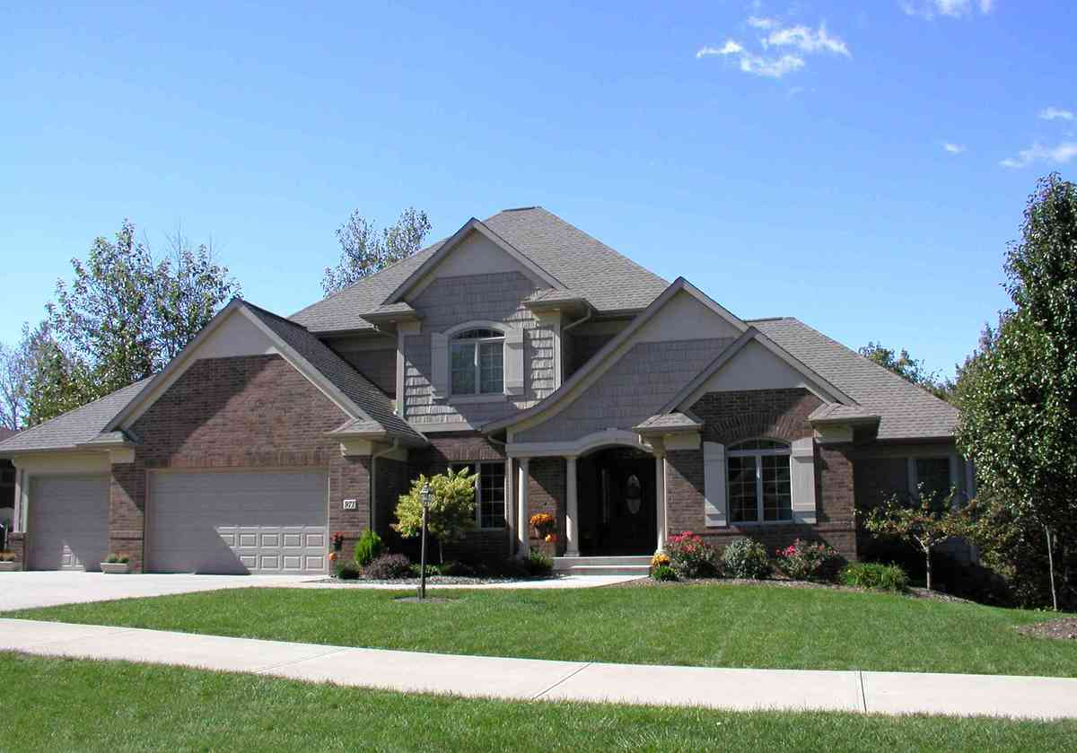 French Country Two-Story Home Plan