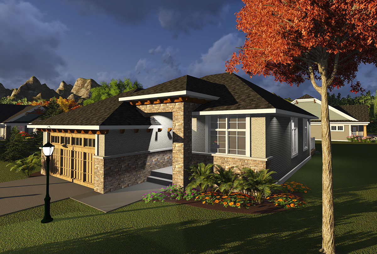 2 Bedroom Prairie Style Ranch 89979AH Architectural Designs House Plans