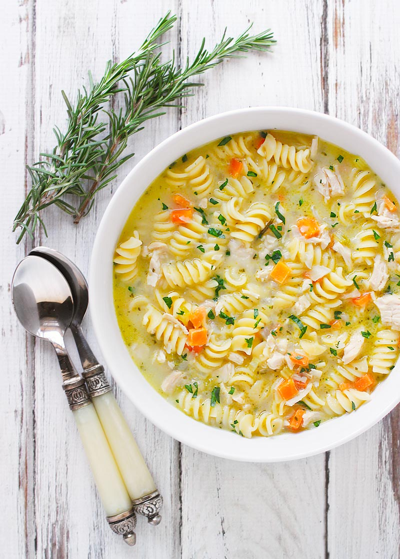 Preserved Lemon Chicken Soup with Rosemary from SoupAddict.com