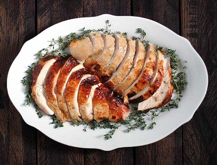 Roasting a Turkey for Two - Roasted Turkey Breast with an Apple Cider Brine   SoupAddict.com