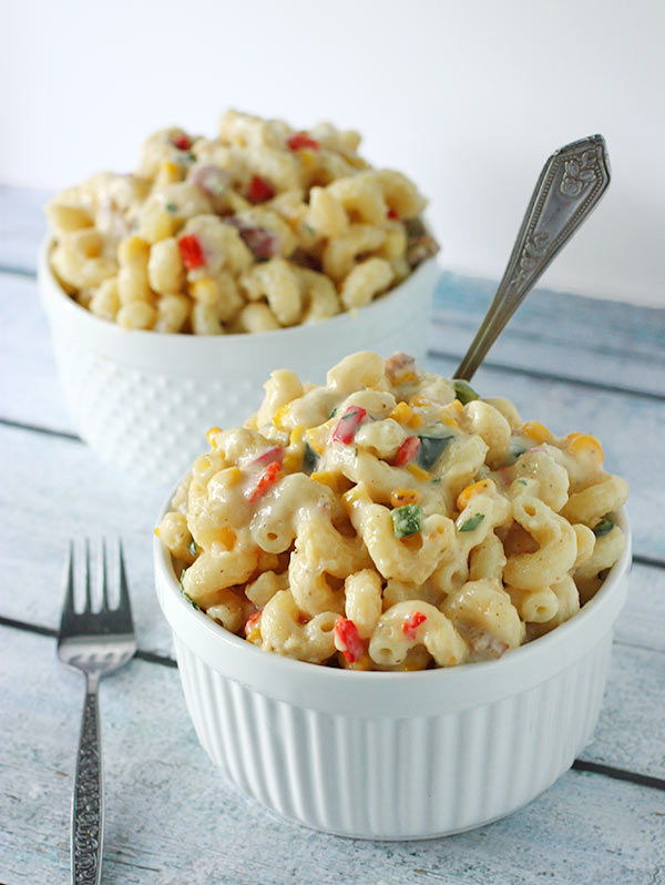 Smoky Vegetable Mac and Cheese from SoupAddict.com