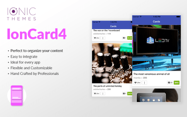 Card 4 | Ionic Card Template| Ionic Templates