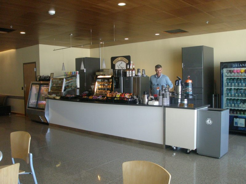 Detroit company takes over food sales at Juneau airport Prior to the new concession stand in the Juneau airport  the only options  for travelers