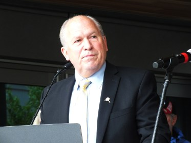 Gov. Bill Walker speaks during grand opening of the Father Andrew P. Kashevaroff Library, Archives and Museum on June 6, 2016.