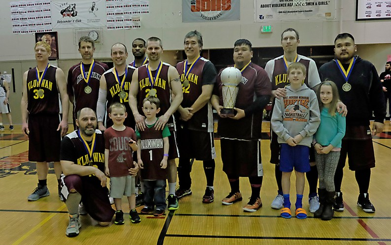 Klukwan won the C-Bracket of the Juneau Lions Club 71st Annual Gold Medal Basketball Tournament at Juneau-Douglas High School on Saturday, 107-97 over Juneau's James Gang. (Photo courtesy Klas Stolpe)