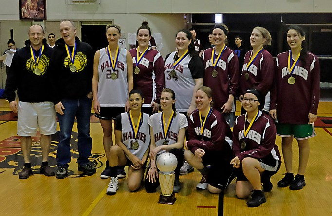 Haines won the Women's Bracket of the Juneau Lions Club 71st Annual Gold Medal Basketball Tournament at Juneau-Douglas High School on Saturday, 52-30 over Hoonah. (Photo courtesy Klas Stolpe)
