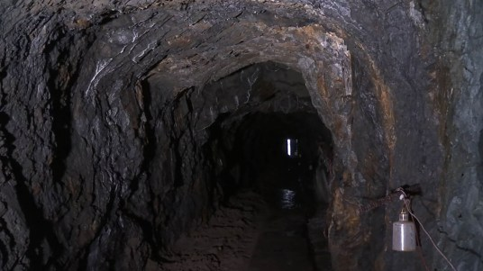 The old tunnel under Juneau's Telephone Hill (Video still by David Purdy/KTOO)