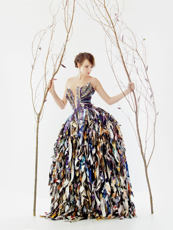 Upcycled Vogue Magazine Dresses Lia Griffith