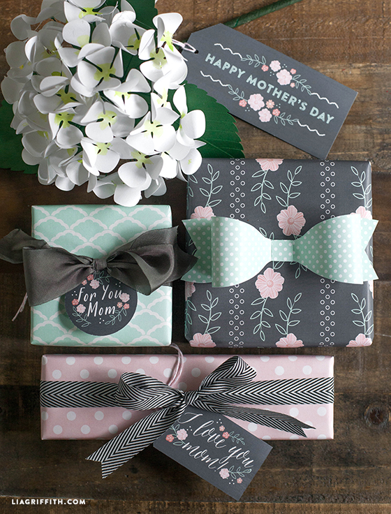 Gift Tags in Mint and Blush for Mother's Day