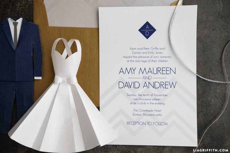 Modern Wedding Invitation Suite Lia Griffith