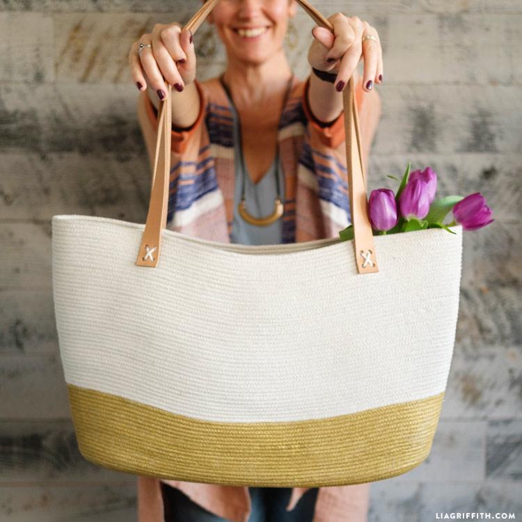 DIY Rope Tote Bag