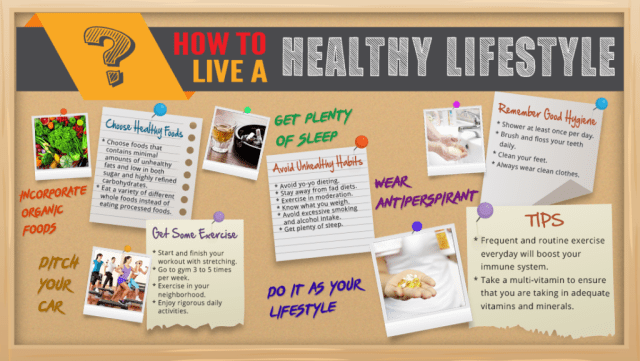 How To Live A Healthier Lifestyle - Infographic