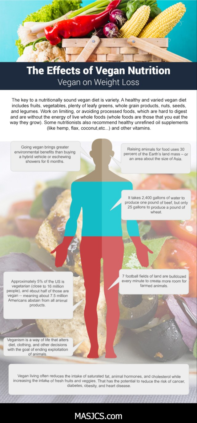 The Effects Of Vegan Nutrition - Infographic