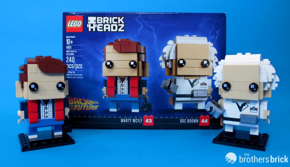 41611 Back To the Future BrickHeadz Doc and Marty and Box Wide Angle