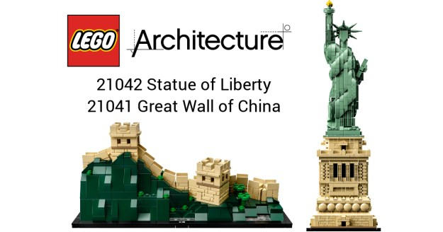 Lego Architecture 21042 Statue Of Liberty And 21041 Great Wall Of
