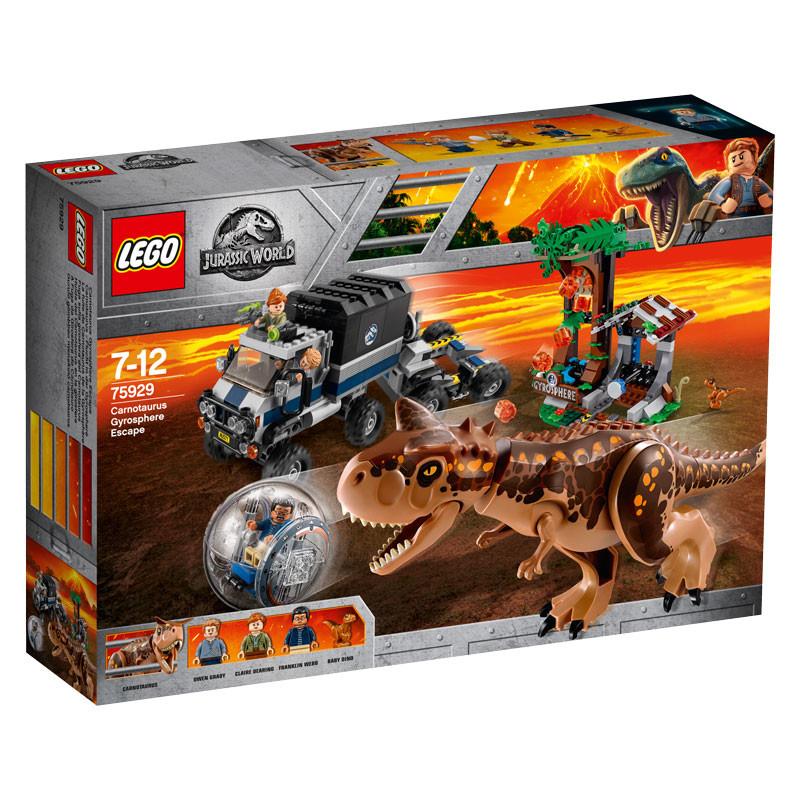 LEGO Jurassic World-75929-Carnotaurus Gyrosphere Escape 1