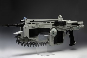 LEGO Gears of War Lancer assault rifle with firing action and motorized saw blade