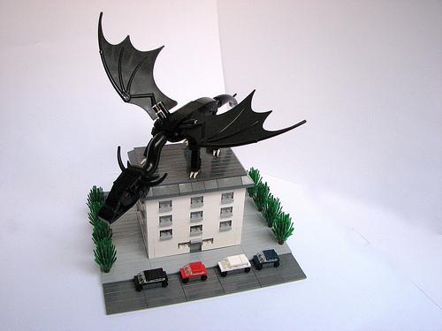 LEGO 2x4 micro office dragon