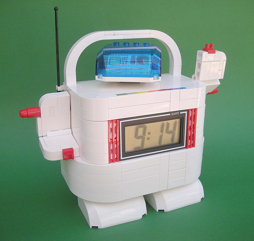 Lego Clock-Bot Creations for Charity