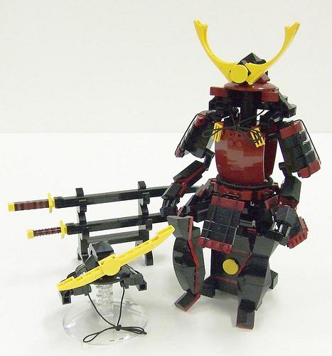 LEGO Samurai battle gear display set 03