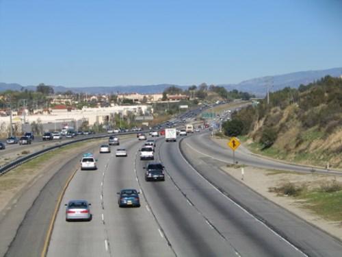 Autpista Interstatal 5 en el área de Santa Clarita. (Foto Flickr)