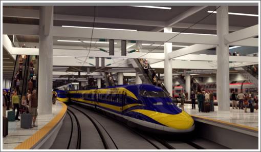 Tren de alta velocidad. (Foto cortesía de High Speed Rail Authority).